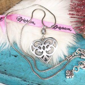 Brighton Romantic Heart Pendant Foxtail Necklace